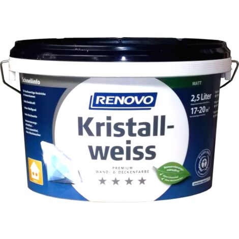Renovo Kristallweiß waschbeständig