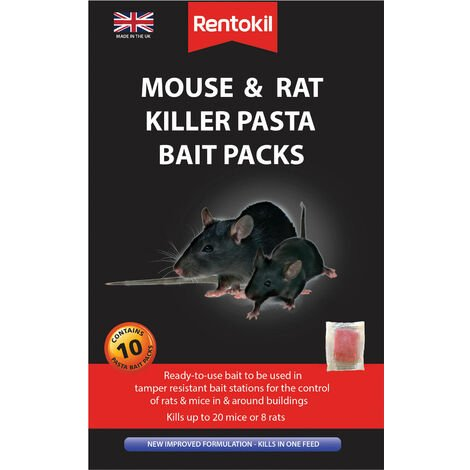 Rentokil FMR52 Mouse & Rat Killer Pasta Bait (Sachets 10)