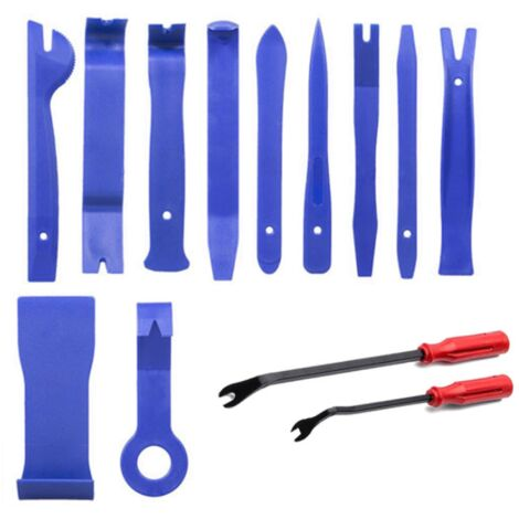 "main image of ""Repair Tool Set Car Removal Tool 13 Pieces Rubber Loop Screwdriver Installation Sound Insulation Blue Repair Tool--"""