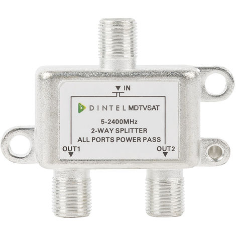 Repartidor 5-2400MHz F 2 salidas Dintel