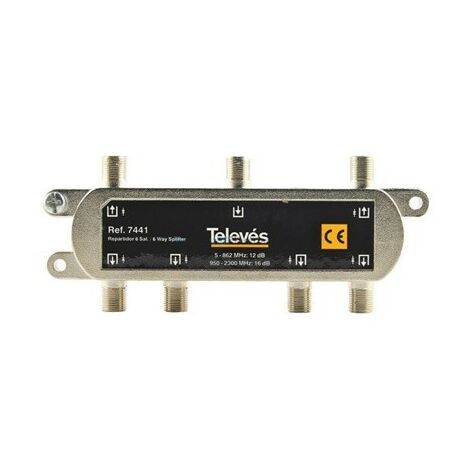 Repartidor 6 salidas conector F 7441 Televes