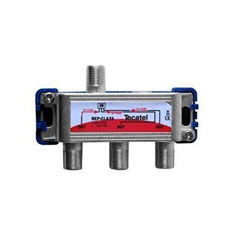 Repartidor de 3 salidas con conector F 2400 MHz Gris