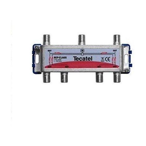 Repartidor de 6 salidas con conector F 2400 MHz Gris