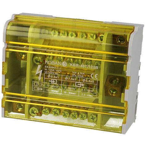 Répartiteur à barrettes étagées tétrapolaire 125A