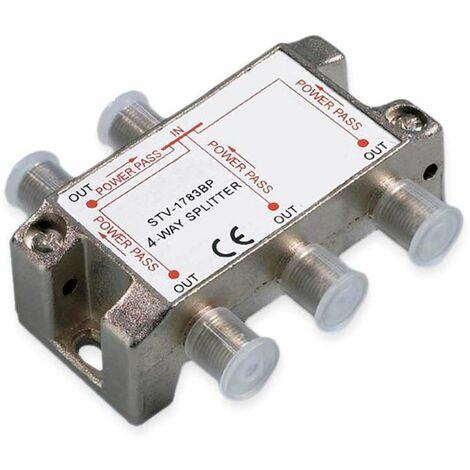 Répartiteur Antenne fiche F - 4 directions Erard