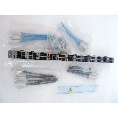 Répartiteur de rangée 1P+N avec 24 cordons connecteurs 6mm² L120mm bleu et noir LEXICLIC LEGRAND 037317