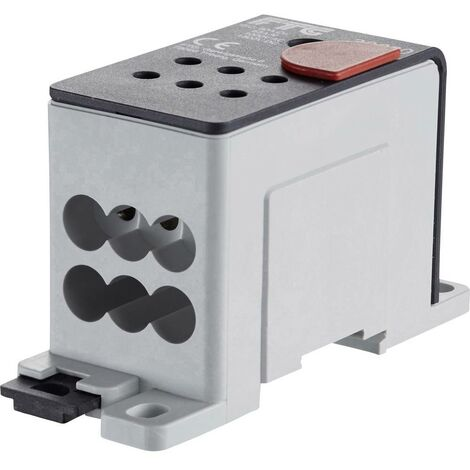 Répartiteur FTG Friedrich Göhringer 38680C 5680 aluminium gris 25 mm² 1000 V Type de conducteur = L, N, PE 1 pc(s)