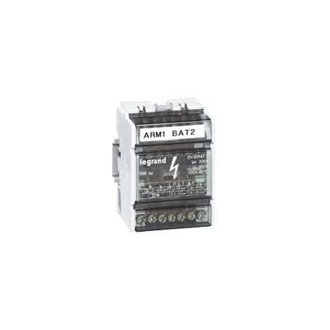 Répartiteur mod monobloc - 4P - 40 A - 13 connexions - 6 modules