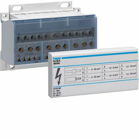 Répartiteur monobloc 4X100A In 100A tétrapolaire (KJ02E)
