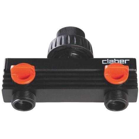 Répartiteur plastique - 2 sortie - MF 3/4' - Claber
