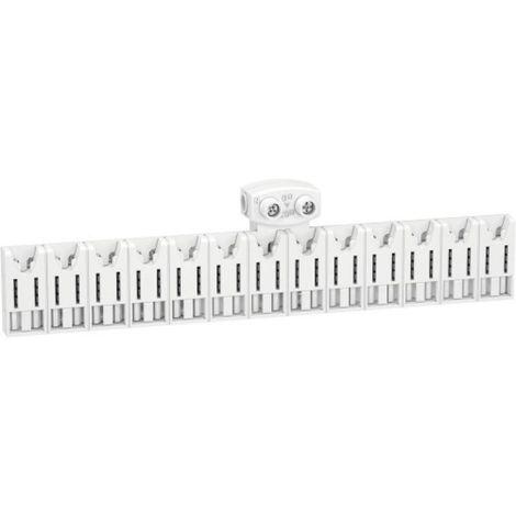 Répartiteur Resi9 embrochable 18 modules avec connecteur XE