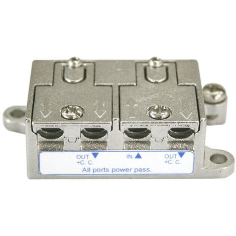 Répartiteur SAT/TV à deux voies. SPLITTER Electro DH. Avec l'étape DC 10.413/2 8430552137183