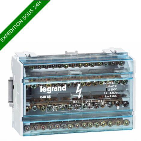 Répartiteur Tétrapolaire modulaire monobloc 125A - LEGRAND - 004888