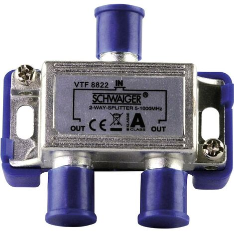Répartiteur TV câble Schwaiger VTF8822 2 voies 5 - 1000 MHz