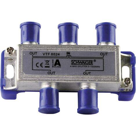 Répartiteur TV câble Schwaiger VTF8824 4 voies 5 - 1000 MHz D30847