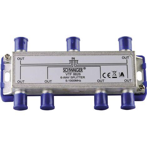 Répartiteur TV câble Schwaiger VTF8826 6 voies 5 - 1000 MHz D30849