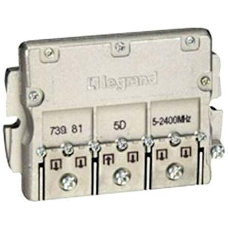 Repartiteur tv/fm/sat 5 sorties blinde Legrand 91087