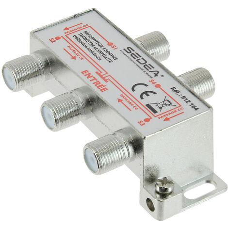 Répartiteur TV intérieur Satellite et Terrestre 1 entrée/4 sorties - SEDEA - 912164