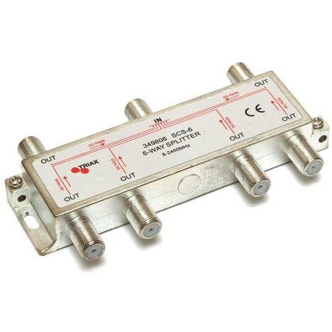 Répartiteur ULB 6 Directions Triax SCS-6 - Gris