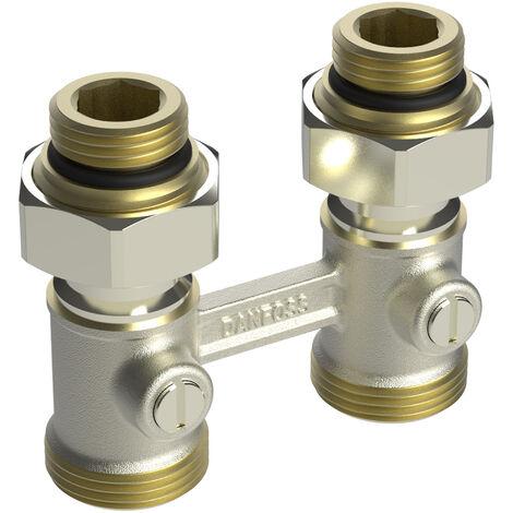 Répartiteur1/2 bitube RLV-KB droit entraxe 50 mm + 1,5mm Mâle 3/4