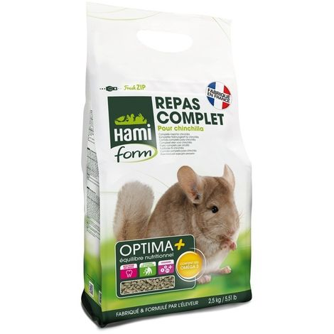 Repas complet Chinchilla 2,5 kg HamiForm