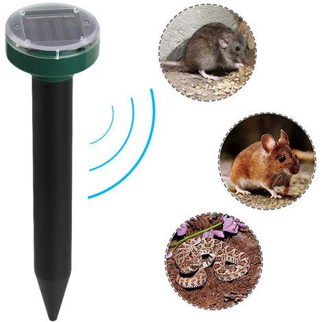 Repelente solar del topo, la marmota repelente ultrasonico con energia solar y repelente de animales para cesped y jardin Patio Inicio