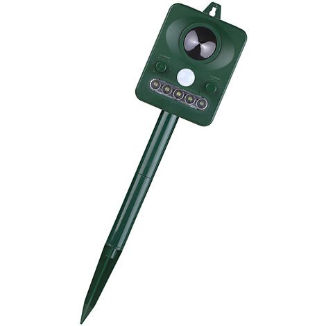 """main image of """"Repelente solar ultrasonico de plagas Repelente de animales al aire libre, con sensor de movimiento de sonido ultrasonico y luz intermitente"""""""