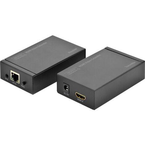 Répéteur (extension) Digitus DS-55120 DS-55120 HDMI™ câble réseau RJ45 Portée (max.):120 m 1 pc(s) Y185431