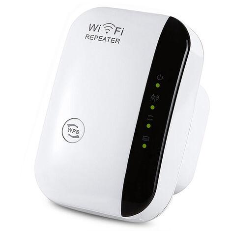 Repeteur WiFi sans fil/AP 300Mbps reseau Wifi Extender Extender longue portee Point d'acces Booster de signal,modele:Blanc UE