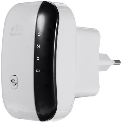Répéteur WiFi sans fil Booster 300 Mbps blanc Prise UE