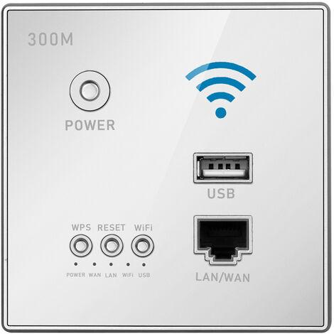 Repetidor WIFI inalambrico inteligente con rele AP de potencia de 300 Mbps, con enchufe USB