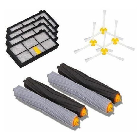 Replacement Accessories Kit for iRobot Roomba 880 870 900, including 4Hepa Filter, 4Side Brush, 2Tangle-Free Debris Extractor