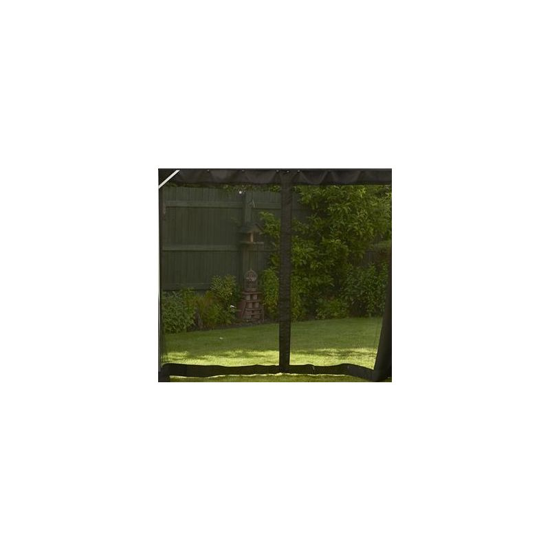 Image of Replacement Black Mosquito Curtains Set For Polycarbonate Gazebo 4 x 3m
