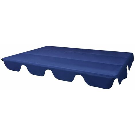 Replacement Canopy for Garden Swing Blue 226x186 cm