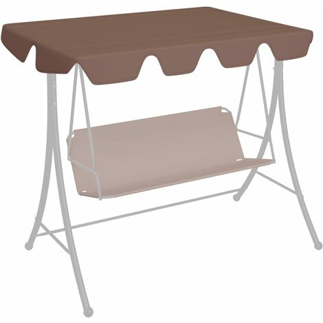 Replacement Canopy for Garden Swing Brown 192x147 cm 270 g/m²