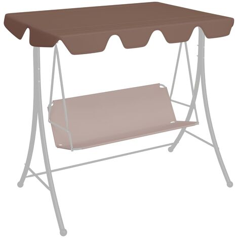 Replacement Canopy for Garden Swing Brown 226x186 cm 270 g/m²