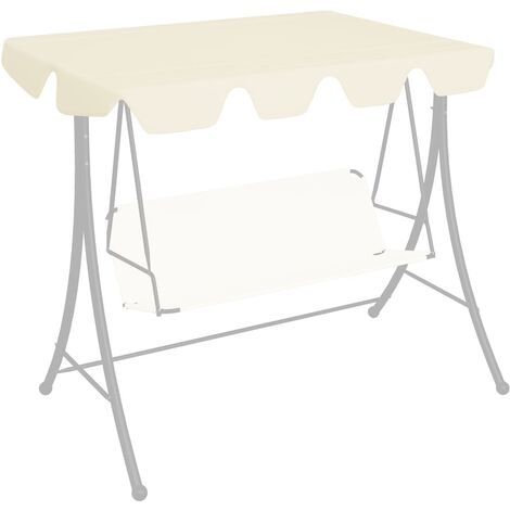 Replacement Canopy for Garden Swing Cream 192x147 cm 270 g/m²