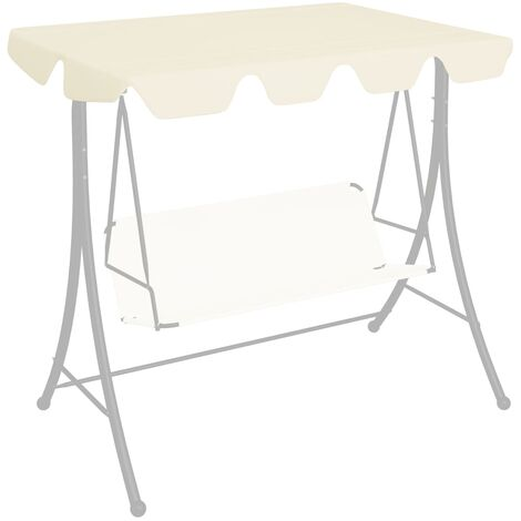 Replacement Canopy for Garden Swing Cream 226x186 cm 270 g/m²