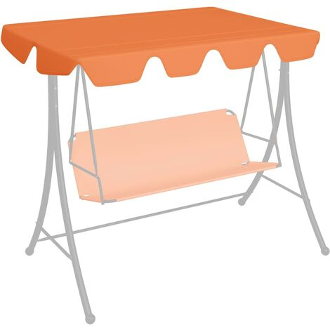 Replacement Canopy for Garden Swing Orange 192x147 cm 270 g/m²