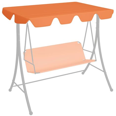 Replacement Canopy for Garden Swing Orange 226x186 cm 270 g/m²