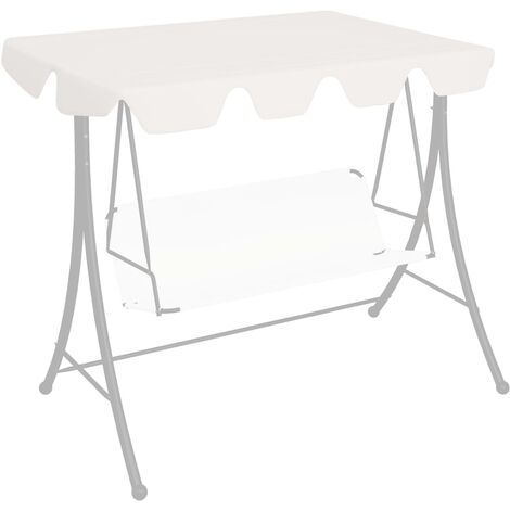 Replacement Canopy for Garden Swing White 192x147 cm 270 g/m²
