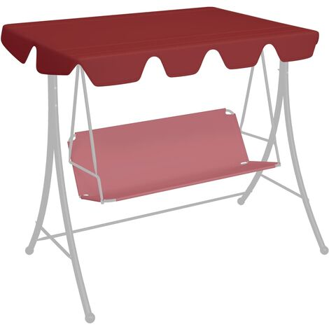 Replacement Canopy for Garden Swing Wine Red 192x147 cm 270 g/m²