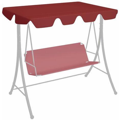 Replacement Canopy for Garden Swing Wine Red 226x186 cm 270 g/m²