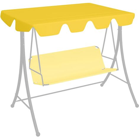 Replacement Canopy for Garden Swing Yellow 192x147 cm 270 g/m²