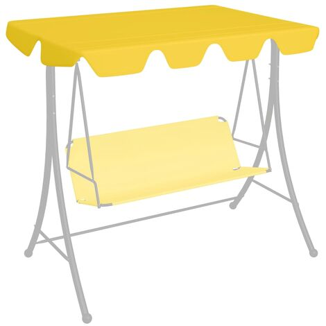 Replacement Canopy for Garden Swing Yellow 226x186 cm 270 g/m²