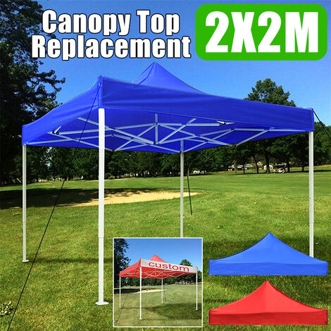 Replacement Canopy Top Patio Pavilion Gazebo Sunshade Polyester Cover(2*2m,Blue)
