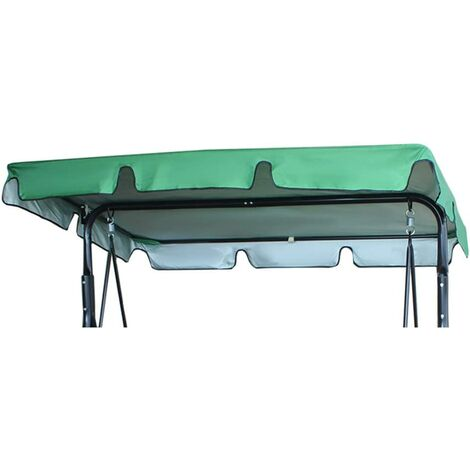 """main image of """"Replacement Canopy, Waterproof Garden Swing Chair Canopy Cover, 2 & 3 Seater Hammock Cover Top for Outdoor Patio, Garden, Poolside, Balcony(Only Canopy Cover) (164*114*15cm, Green)"""""""