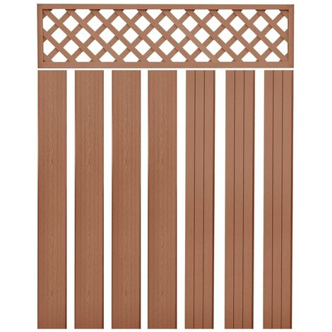 Replacement Fence Boards WPC 7 pcs 170 cm Brown