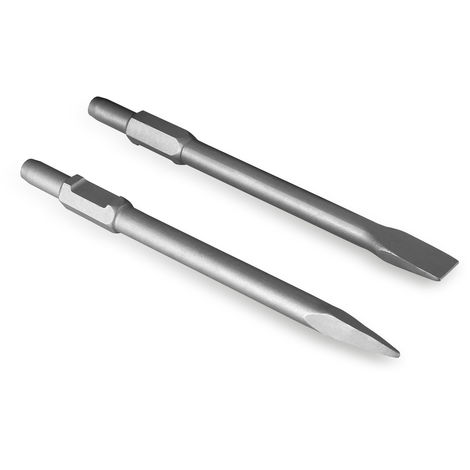 Replacement Flat and Point Chisel Set (390mm length, suitable for demolition hammer with 30mm SDS hexagon sockets)