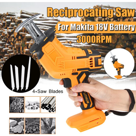 Replacement for Makita 18V Cordless Mini Reciprocating Saw Body with Saw Blades